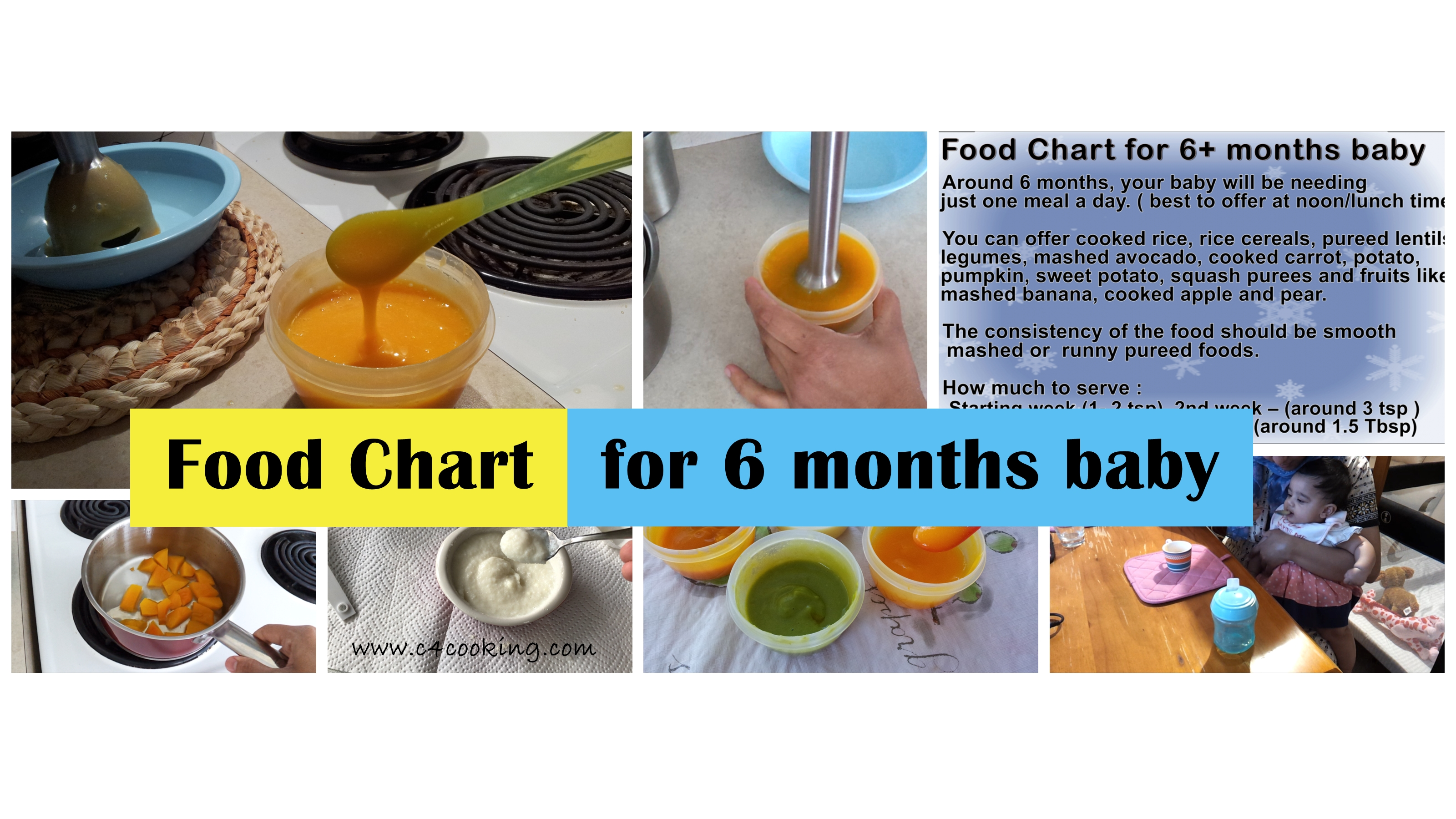 foodchart 6months baby