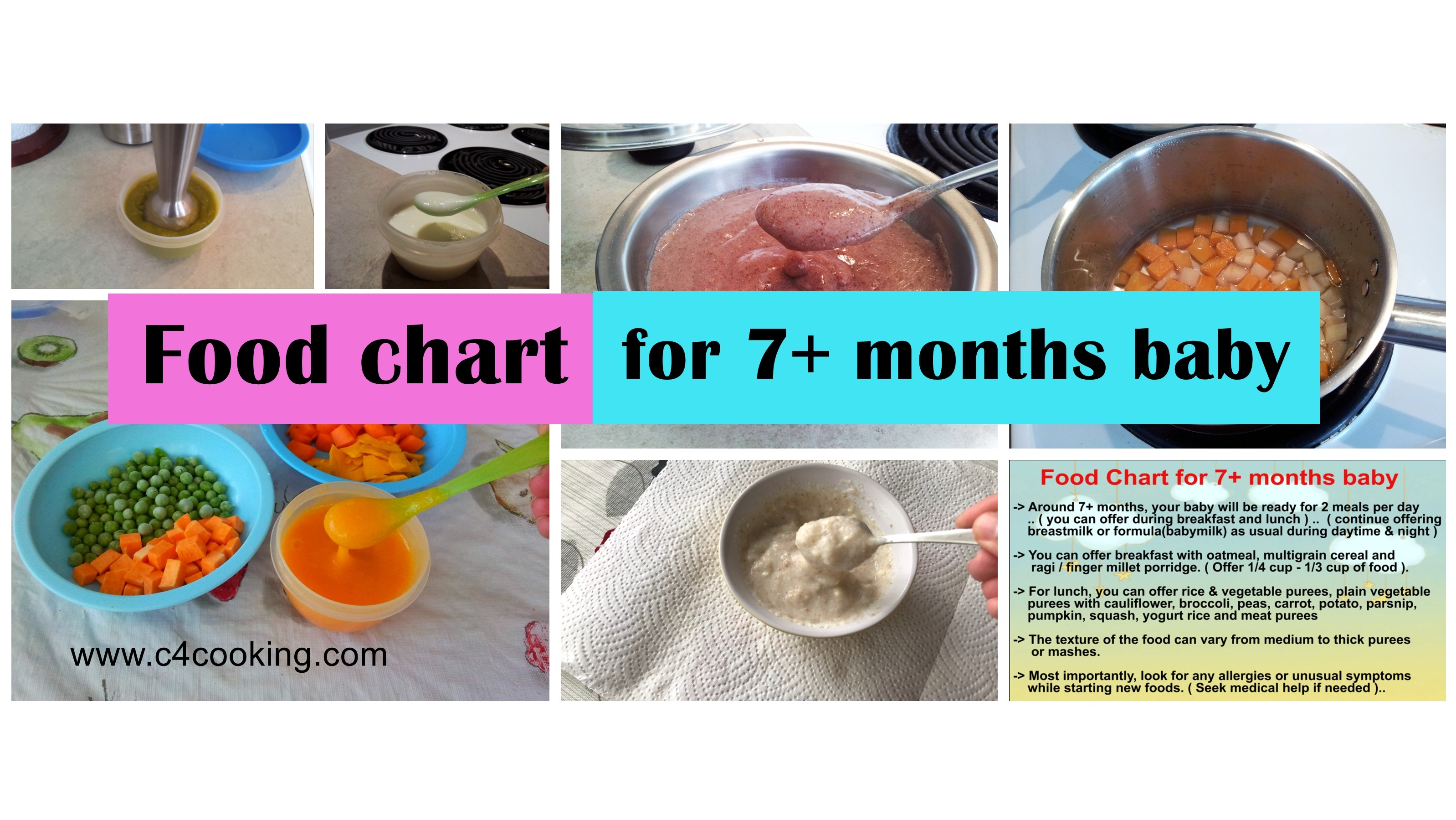 foodchart for 7months baby, 7months babyfood