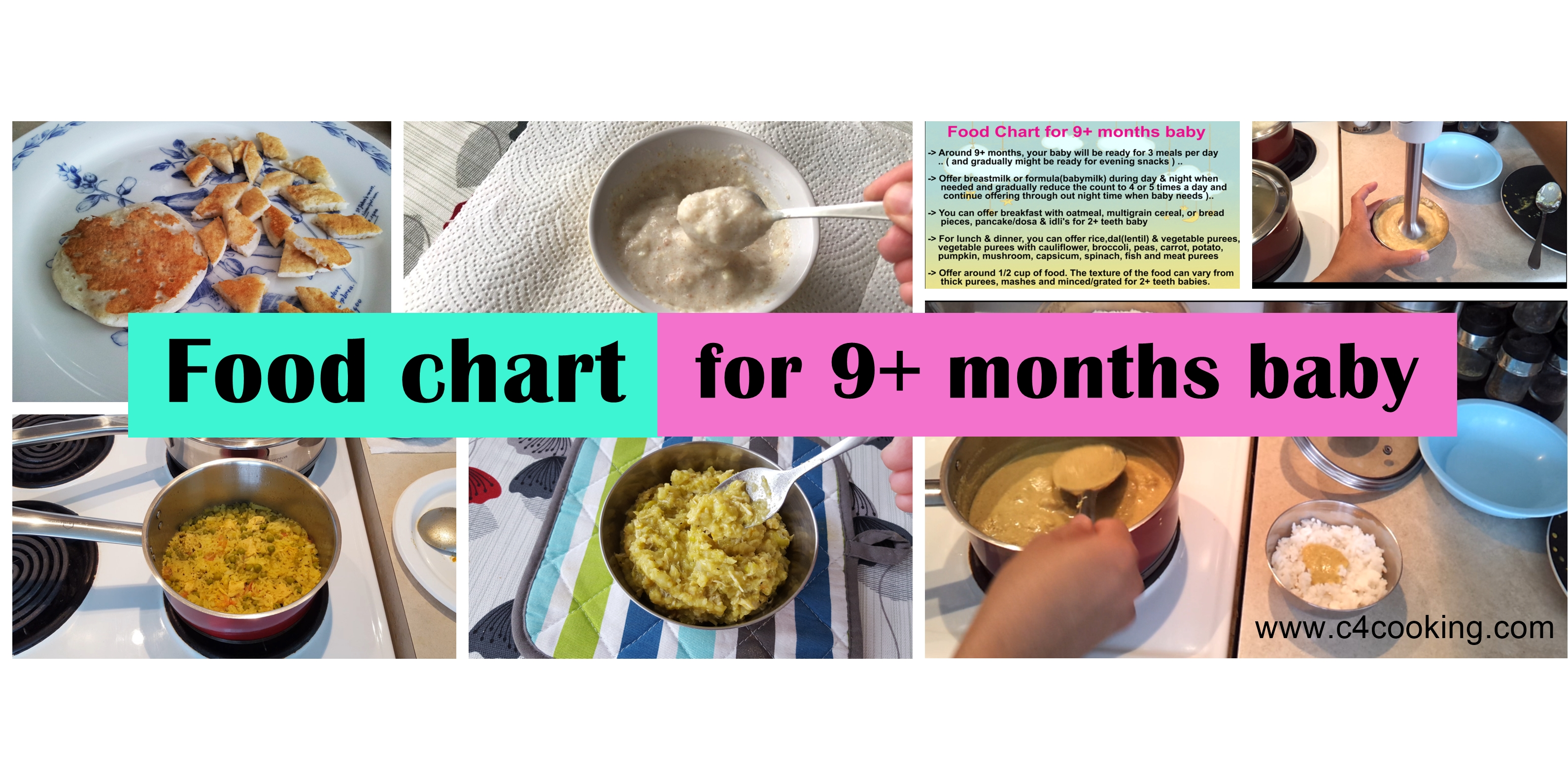 foodchart 9months baby