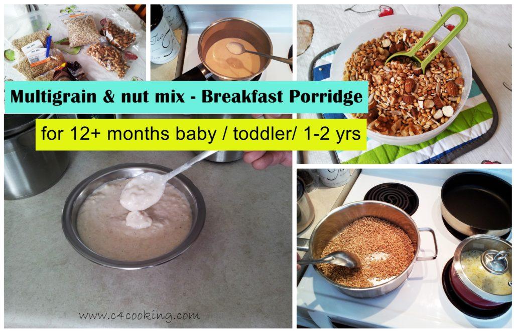 Multigrain breakfast porridge for 12months baby - toddler