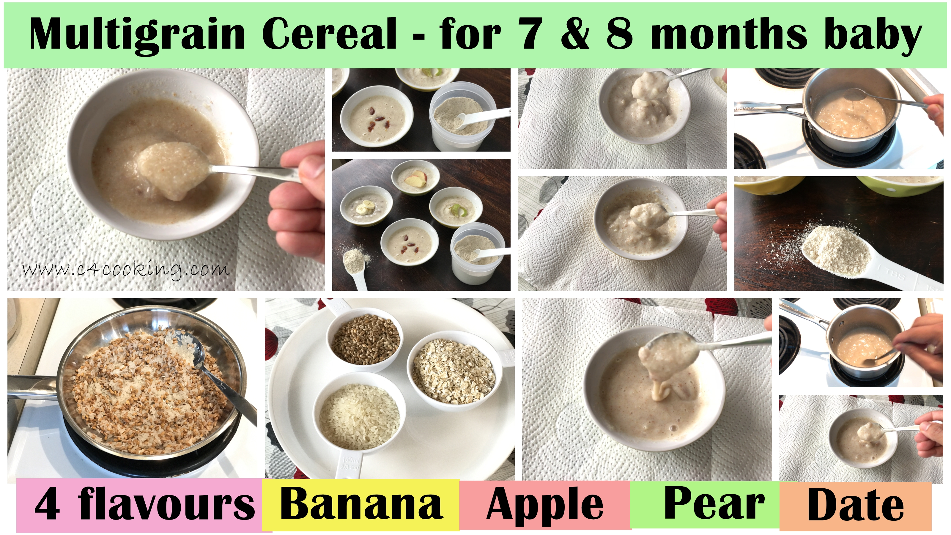 7months baby cereal recipe, muesli for 7months baby
