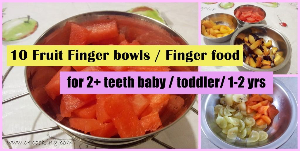 fruit fingers for toddler snack