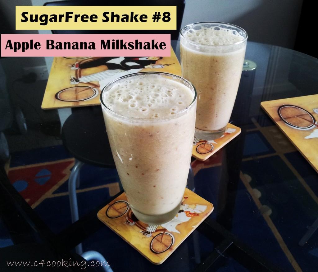 shake 8 Apple banana milkshake