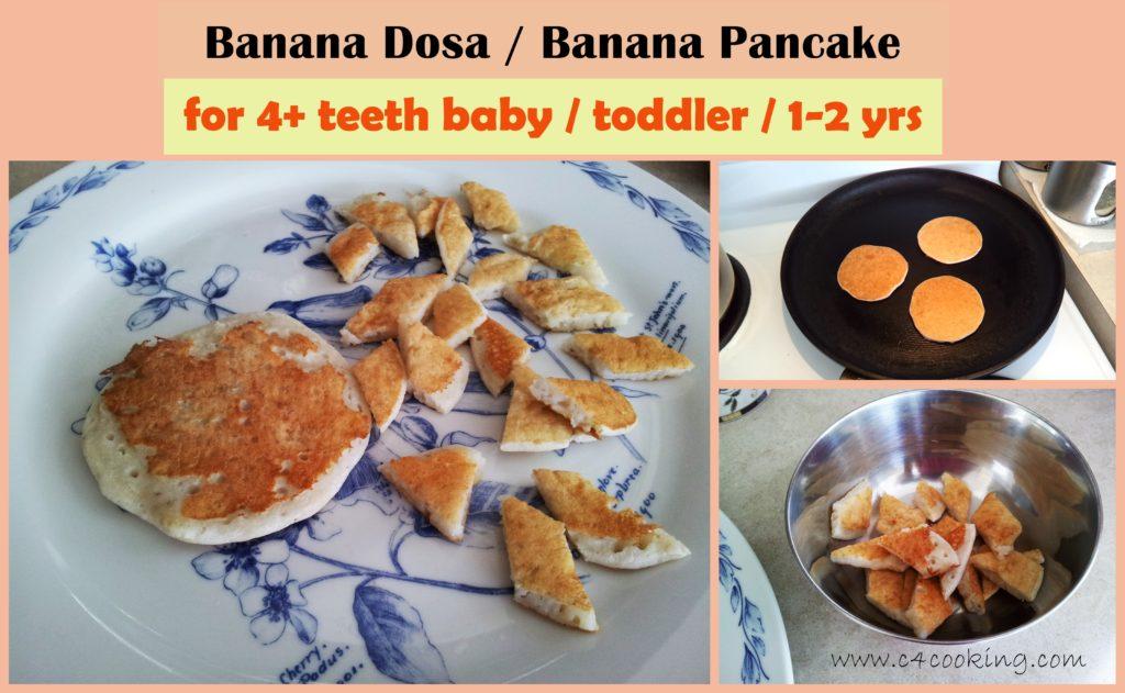 Banana Dosa - Banana Pancake recipe