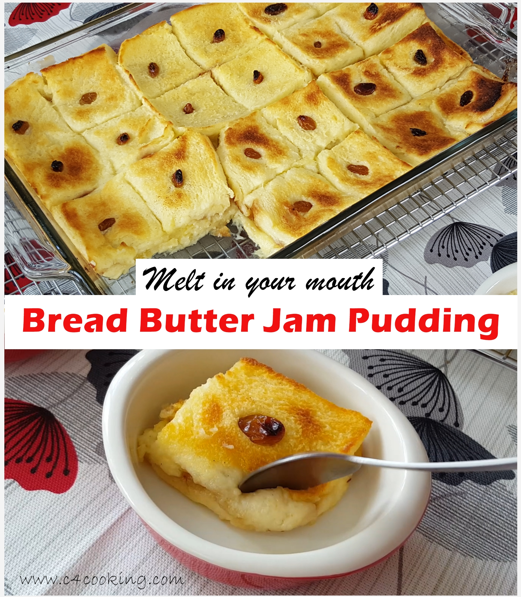 bread butter jam pudding
