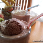 nutella pear smoothie