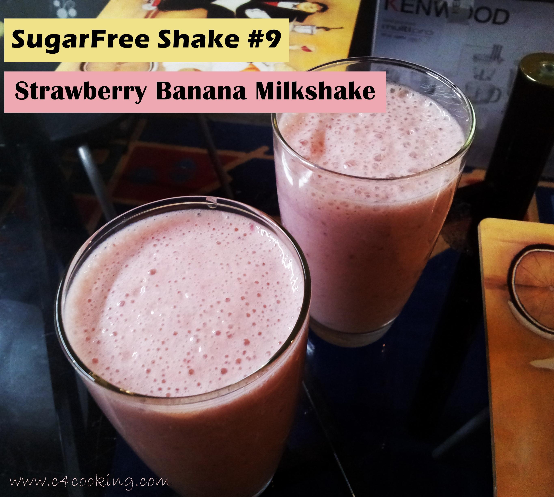 shake9 strawberry banana shake