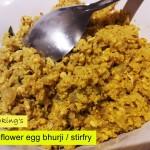 cauliflower egg bhurji recipe