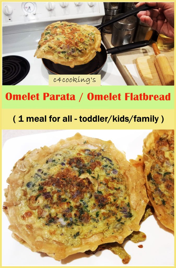 omelet parata / omelet flatbread recipe