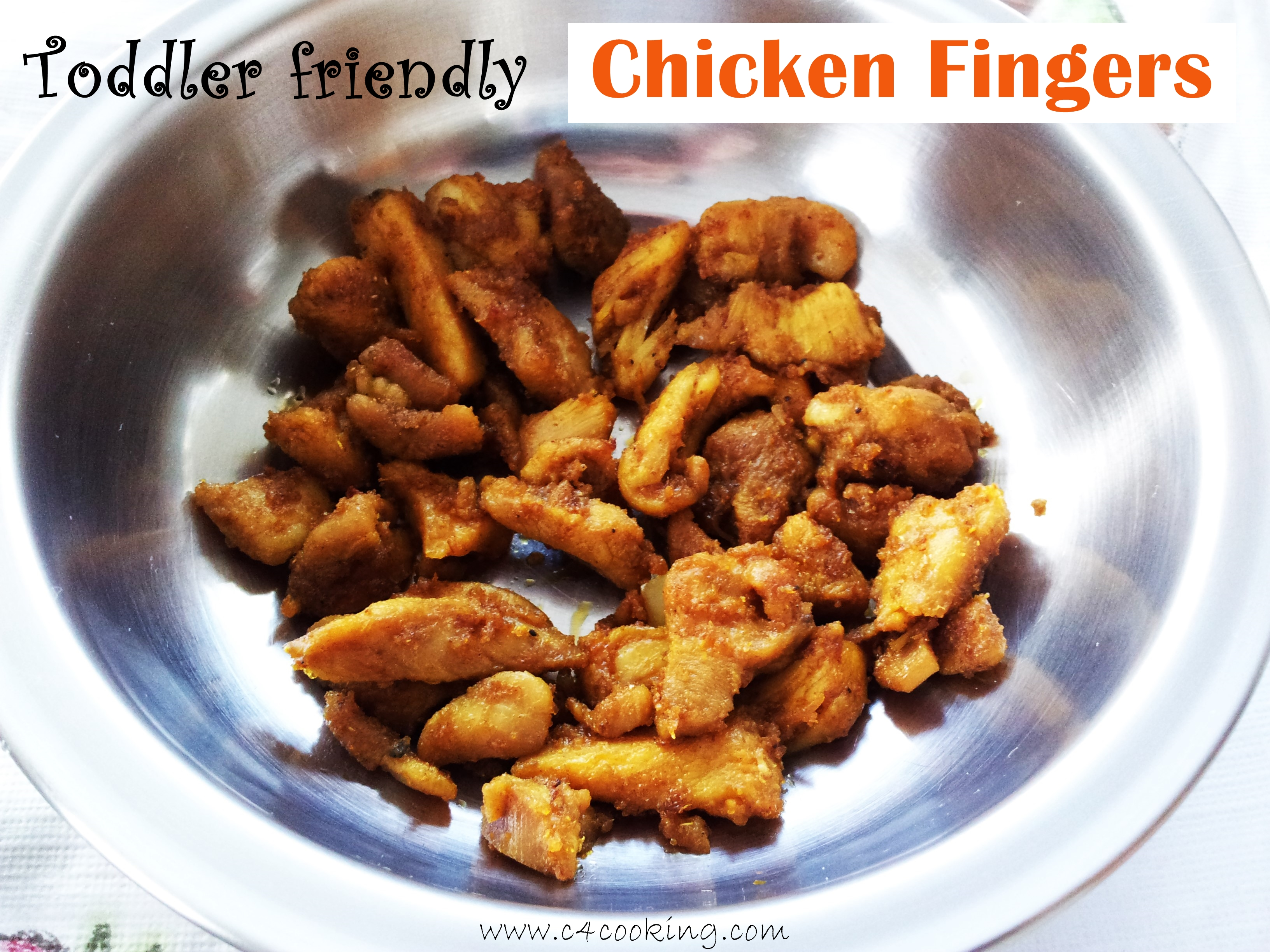 toddler recipe - chicken fingers