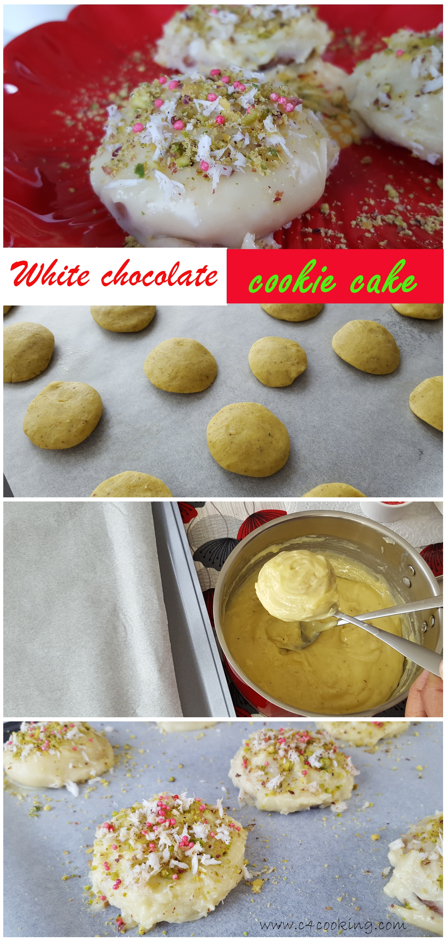 white chocolate cookie cakes