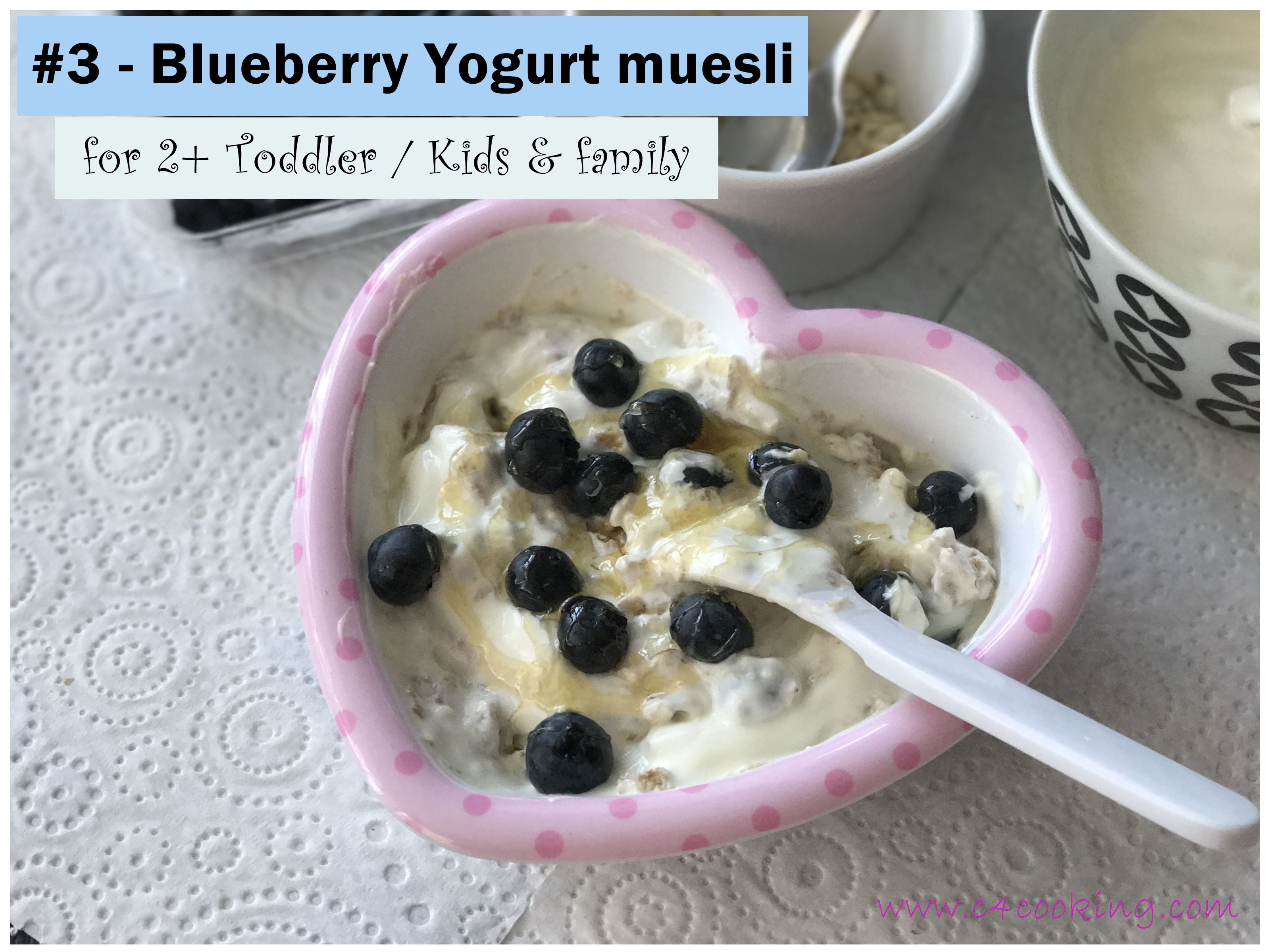 Blueberry Yogurt muesli, breakfast muesli recipes