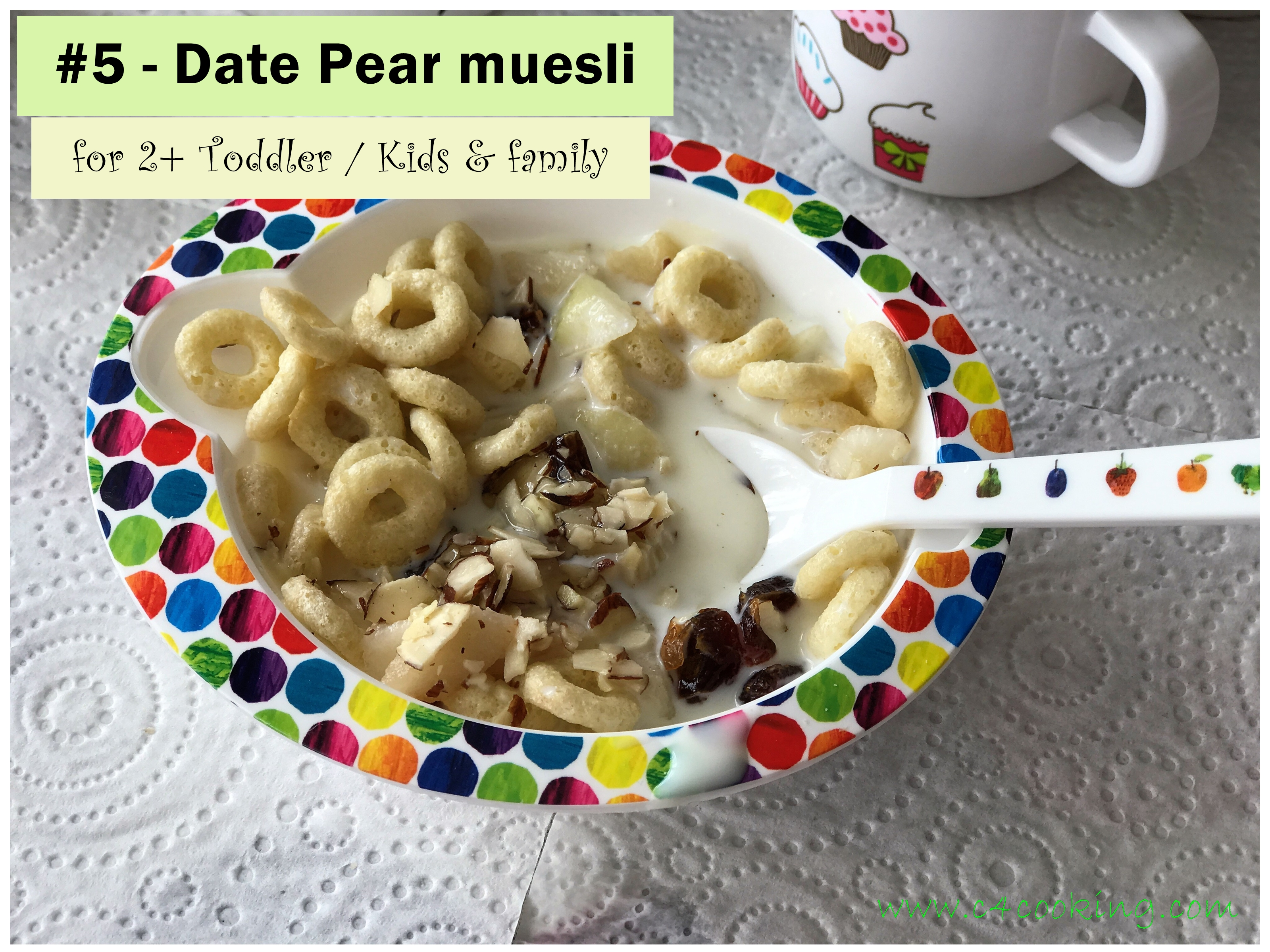 Date Pear muesli recipe
