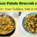 chicken potato broccoli stirfry, 1potrecipe, toddler kids recipes