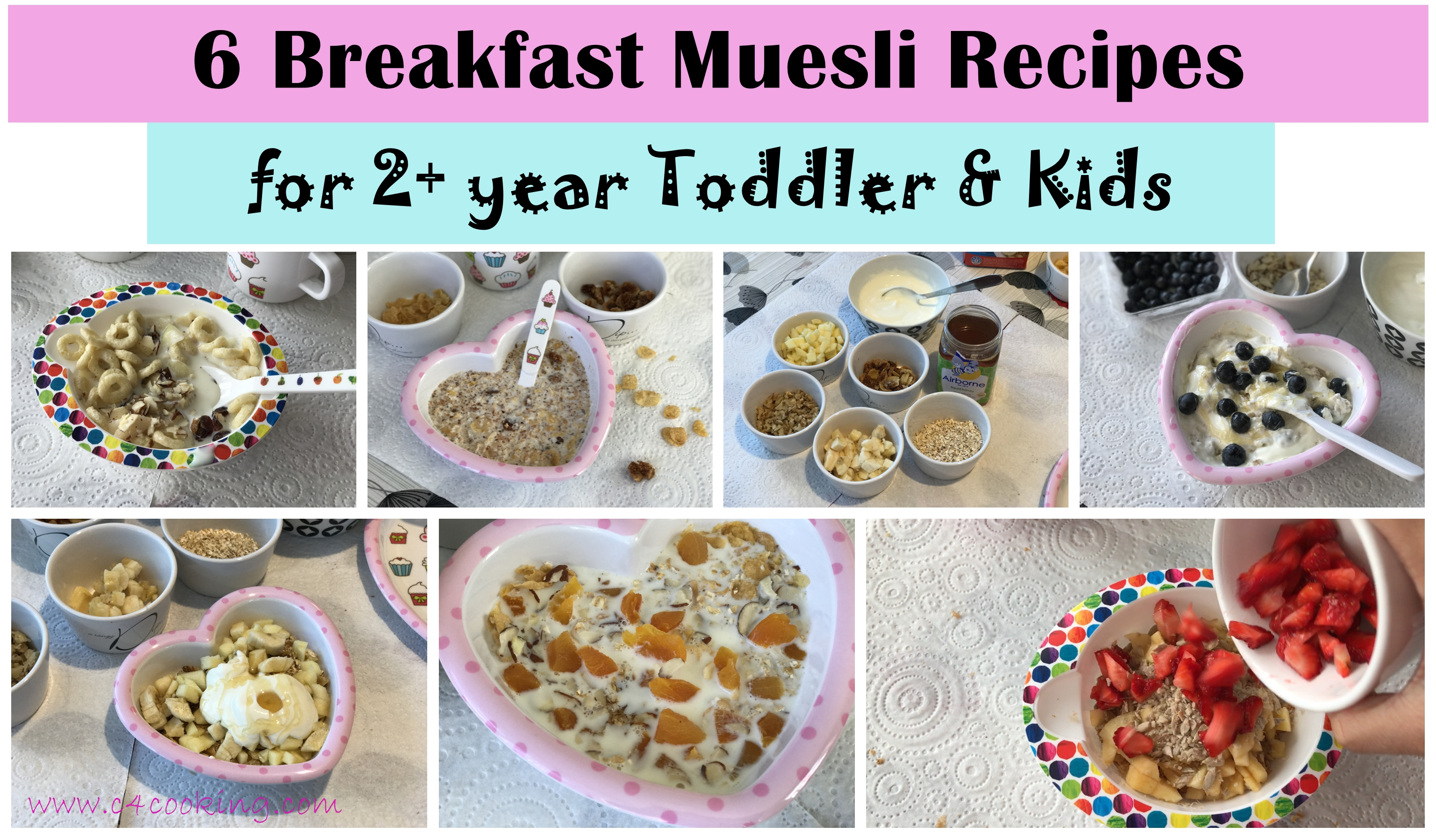 6 breakfast muesli recipes, c4cooking baby kids muesi recipes