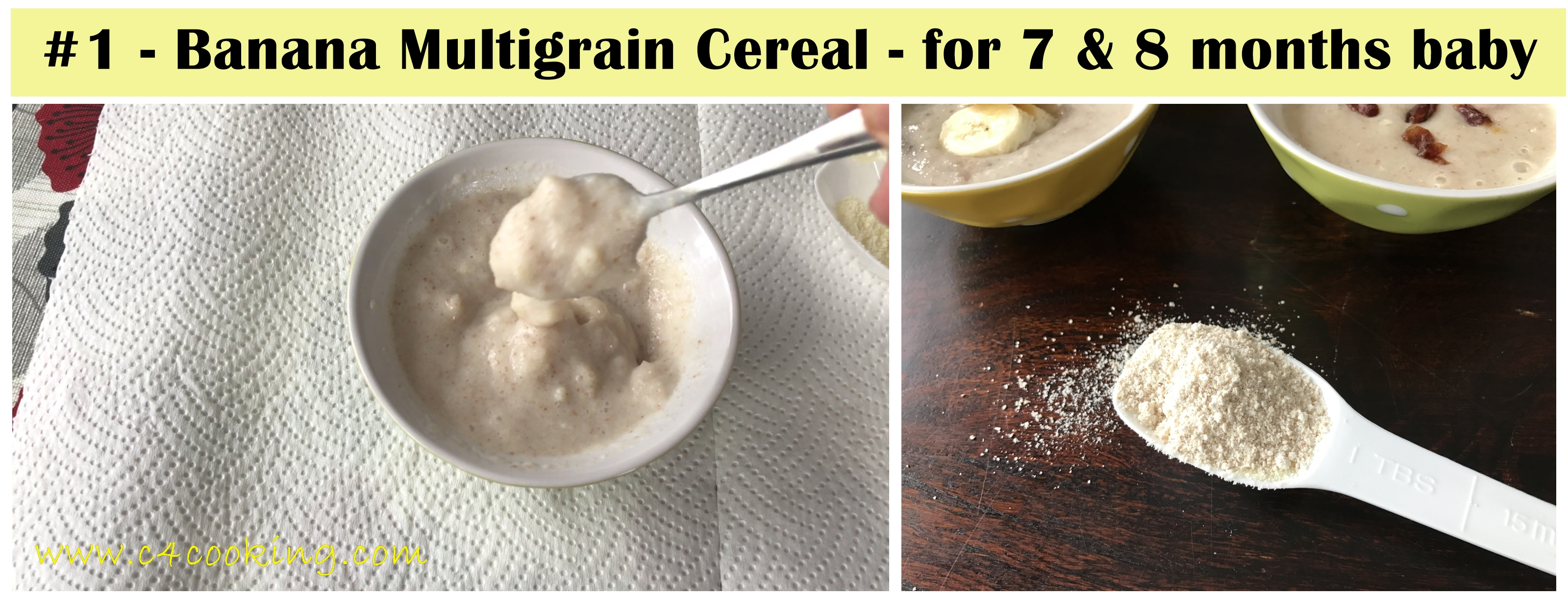 8 months baby multigrain cereal recipe