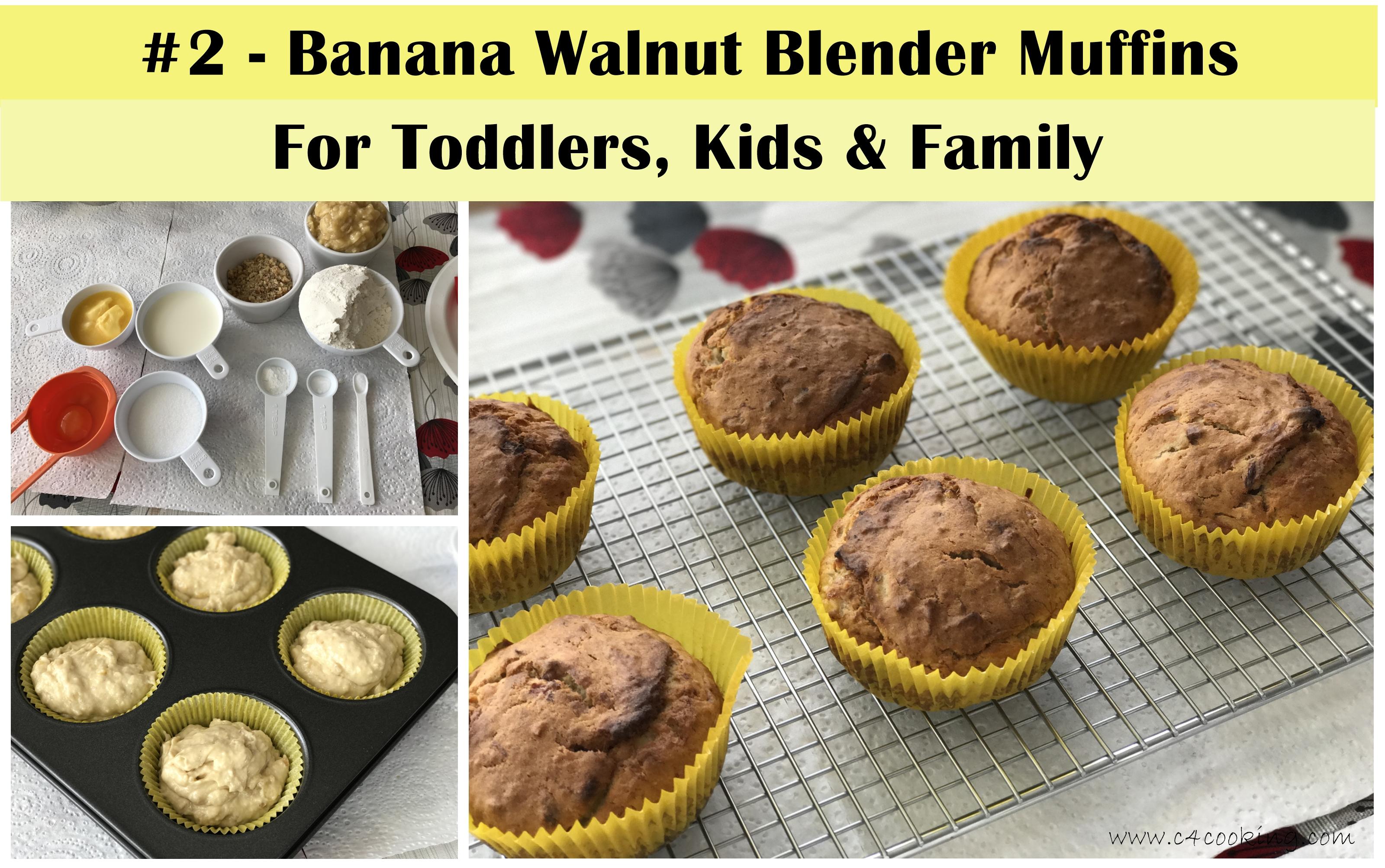 Banana Walnut Blender muffins