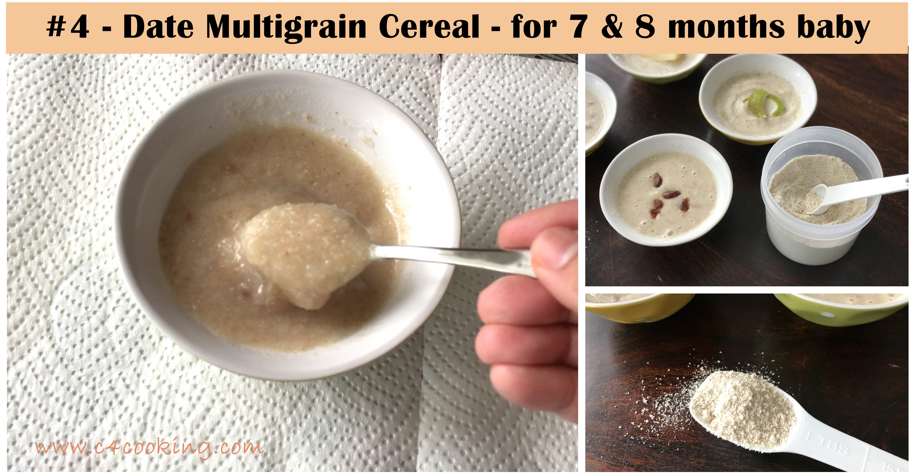 date multigrain cereal for 7monthsbaby, date cereal for 8months baby, babyfood recipes with dates, babyfood