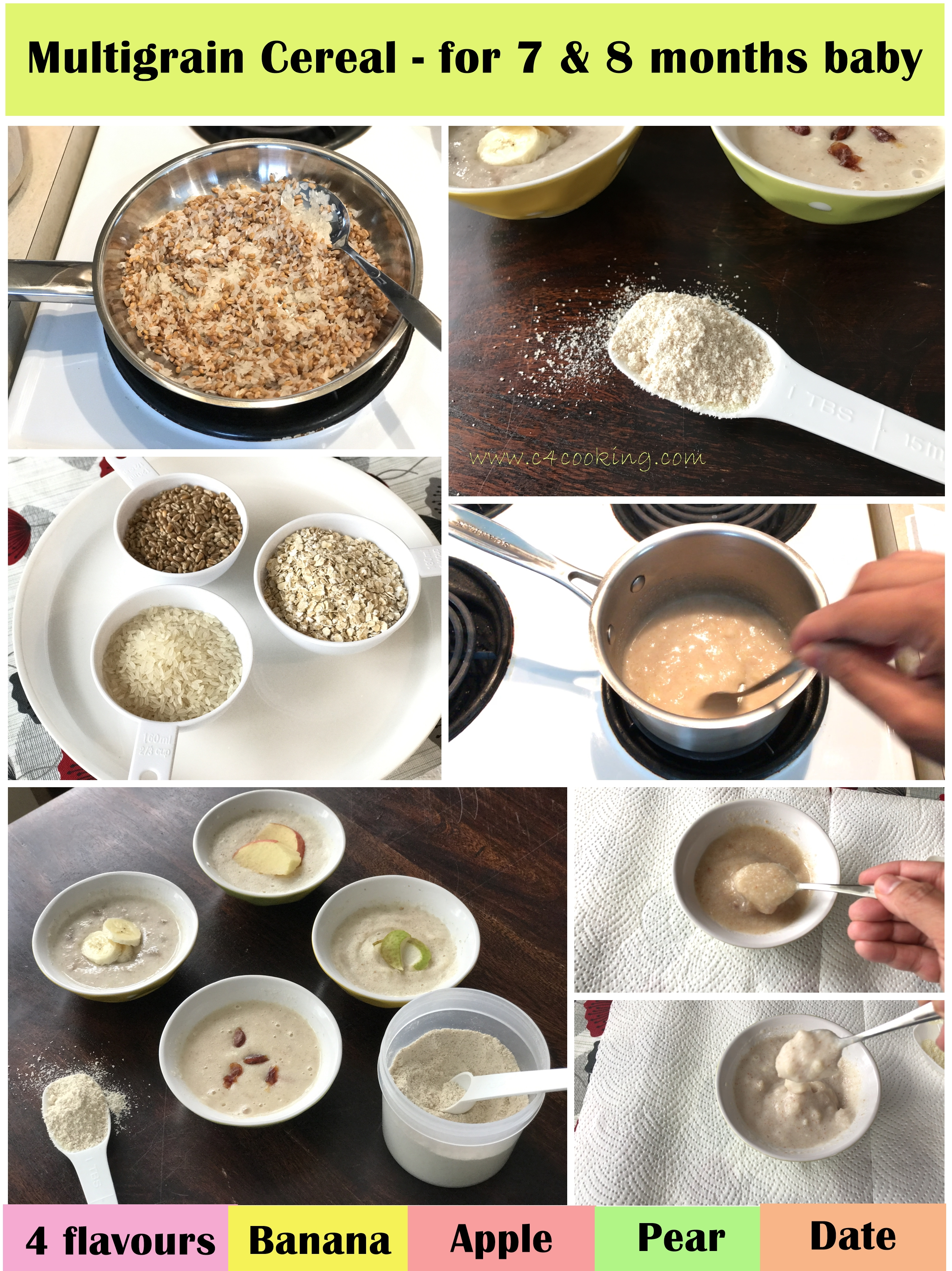 multigrain cereal 7 and 8 months baby, 7months babyfood, 8months babyfood, baby cereal recipe