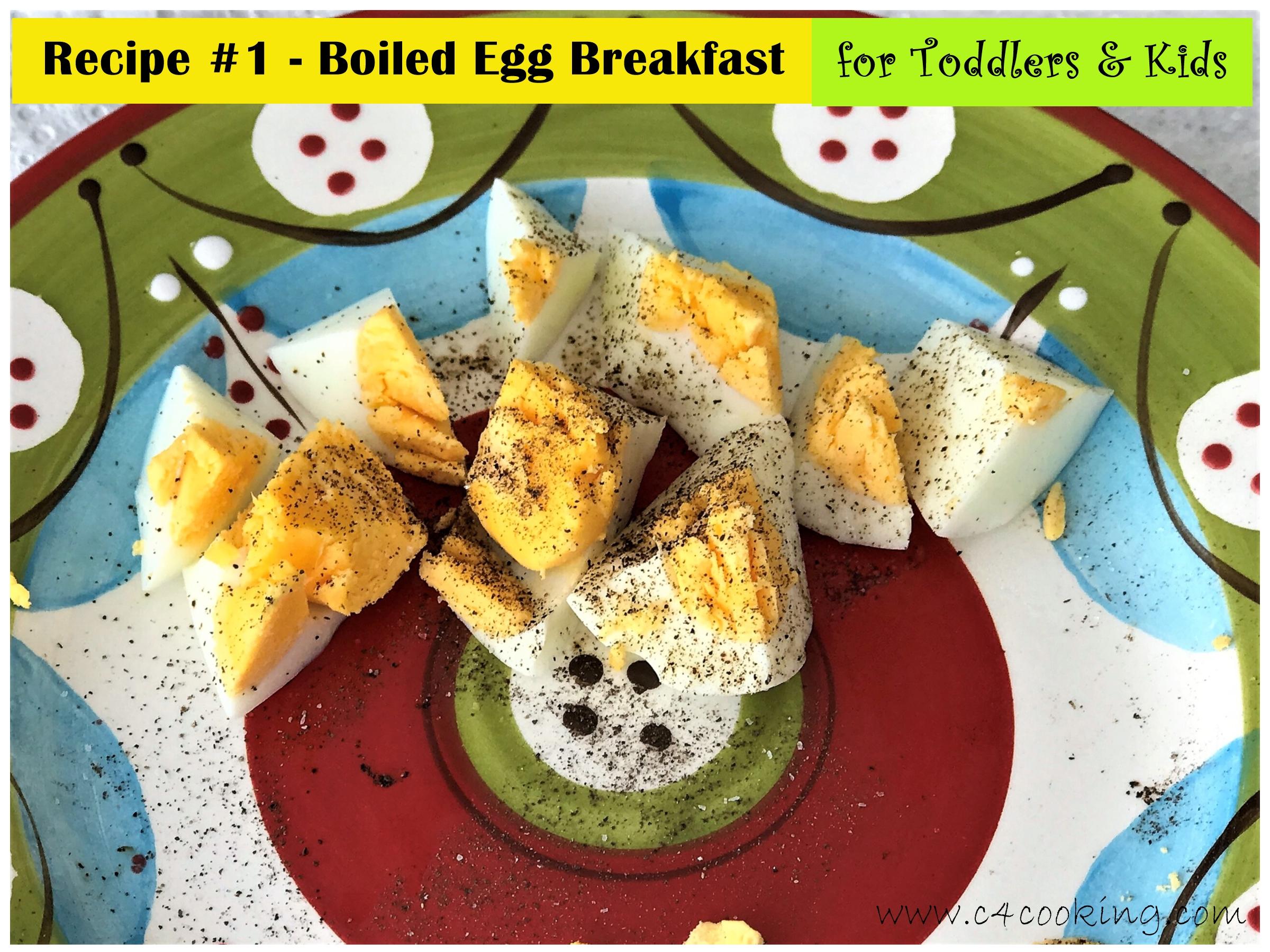 boiled egg breakfast for toddler kids
