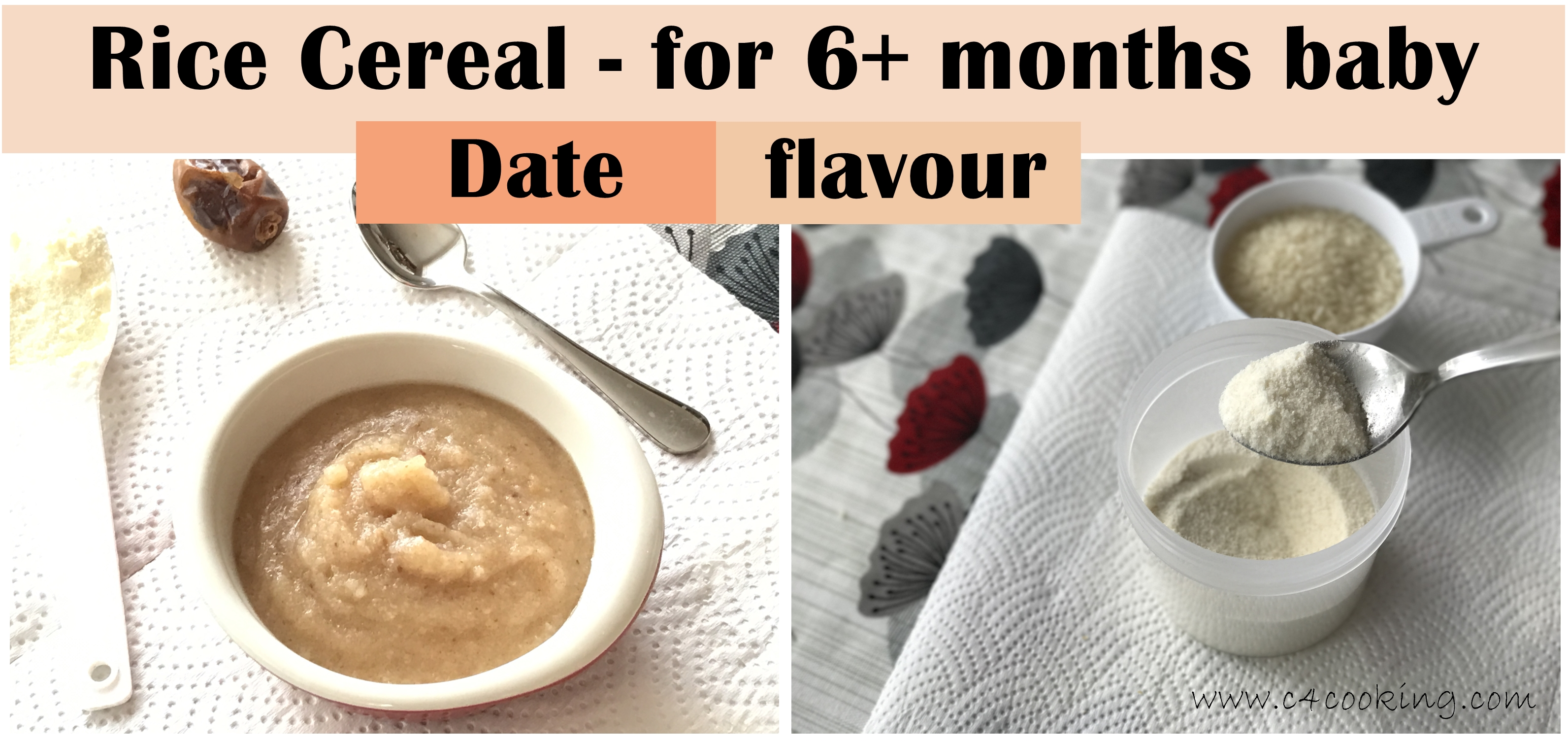 rice cereal, cerelac recipe for baby, date rice cereal