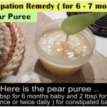 constipation remedy for babies infants, pear puree for baby,