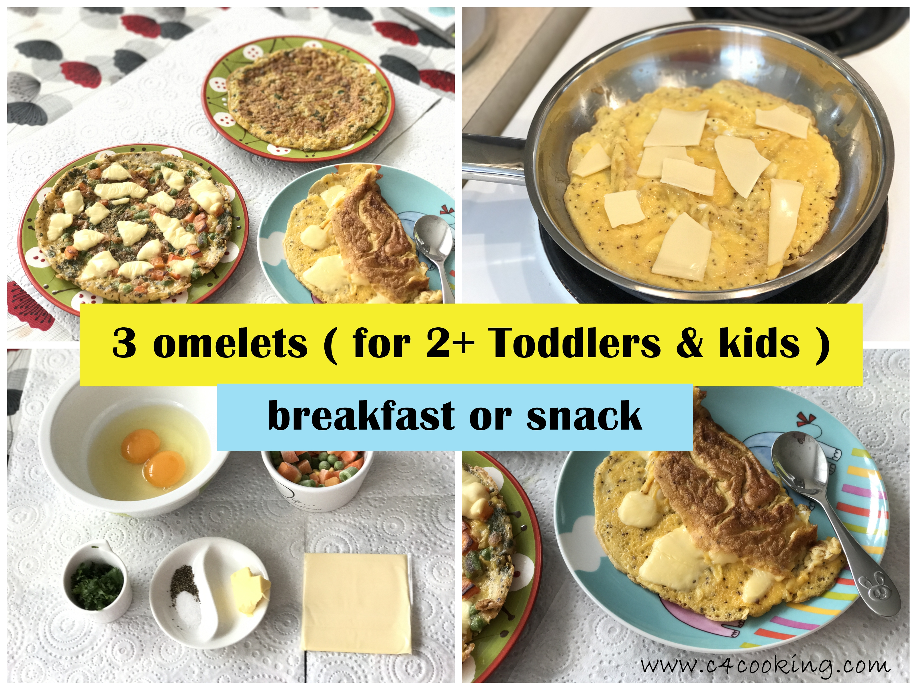 omelet recipes for toddlers kids, snack, breakfast