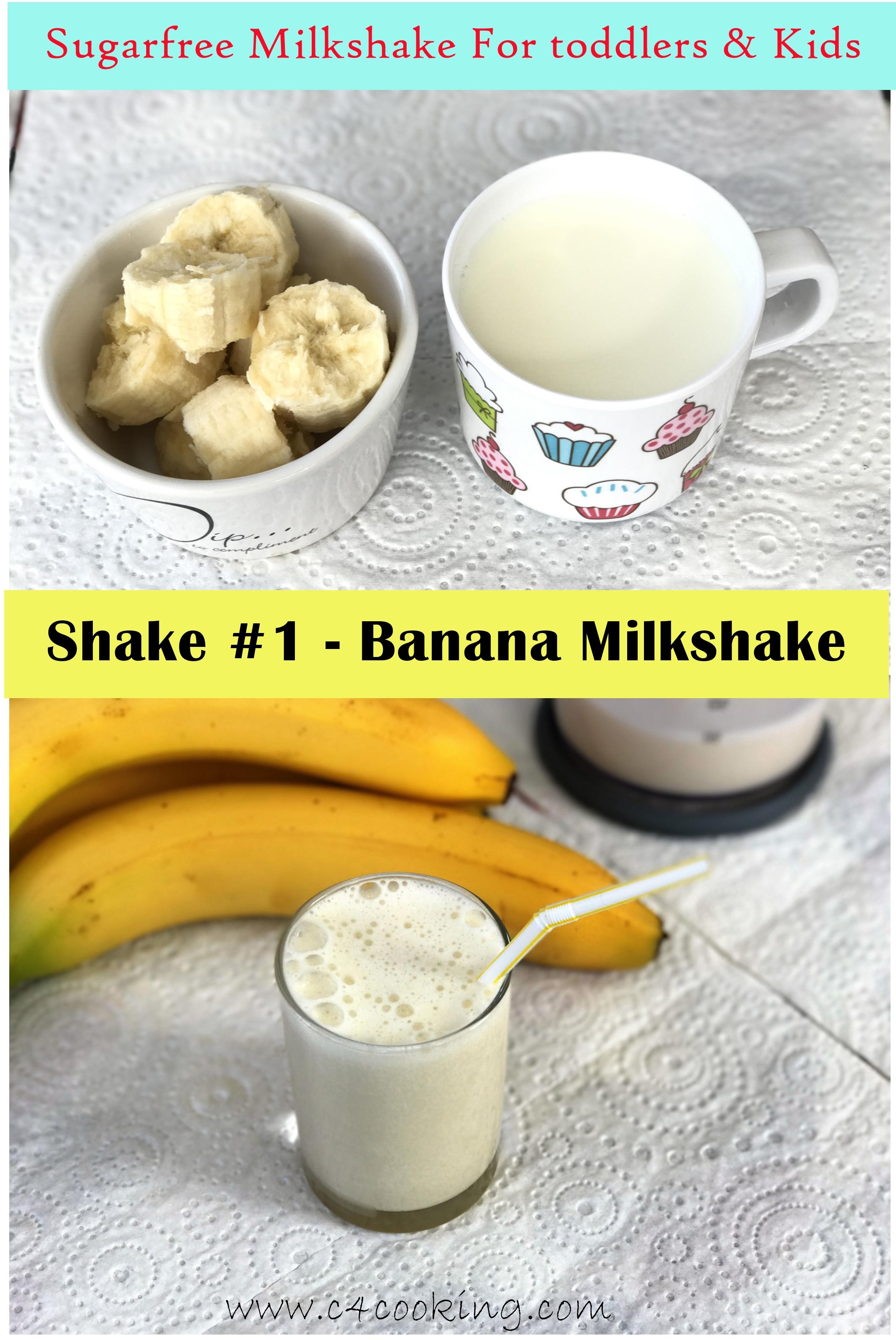 banana milkshake, banana smoothie