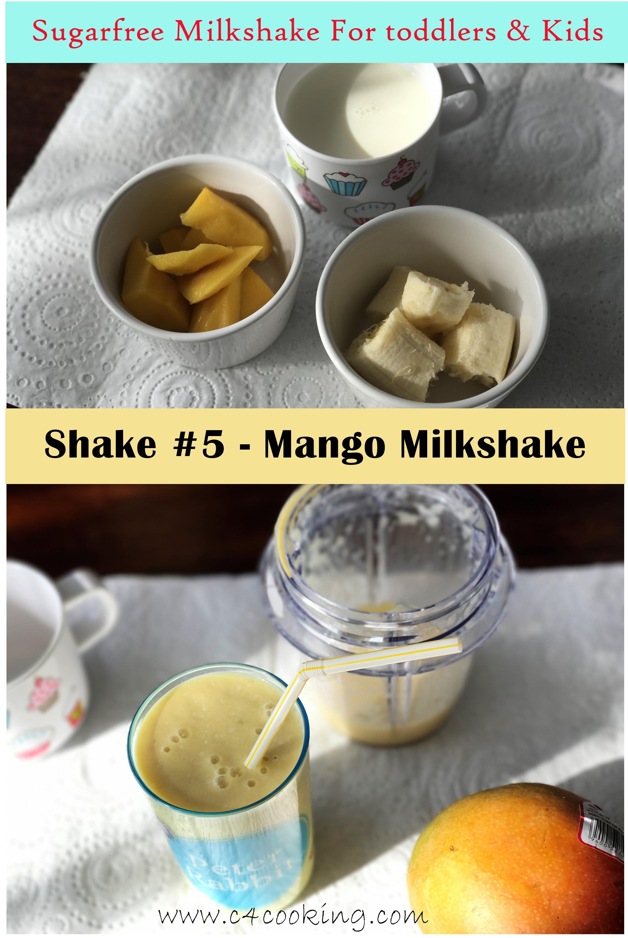 mango milkshake, toddlers kids shake, mango smoothie