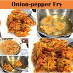 onion-pepper fry, onion bhajji recipe, onion bajji, ulli bajji recipe, c4cooking onion-pepper fry, c4cooking onion-pepper bhajji recipe, tea-time snacks, comfort snacks