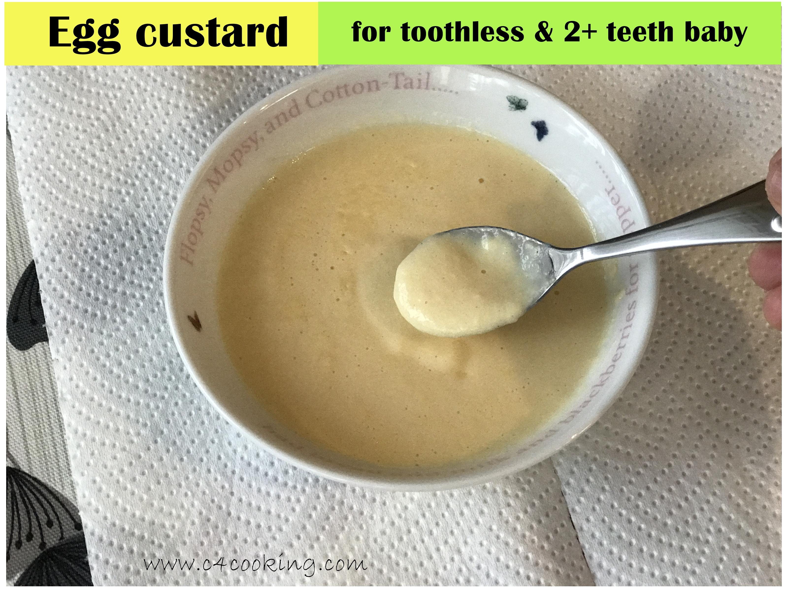 egg custard recipe, how to offer egg for baby, egg recipes for toddler, 12months baby egg recipe