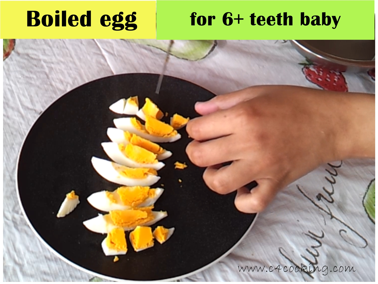 boiled egg recipe for 12+ months baby, how to give eggs to baby, egg recipes for toddlers