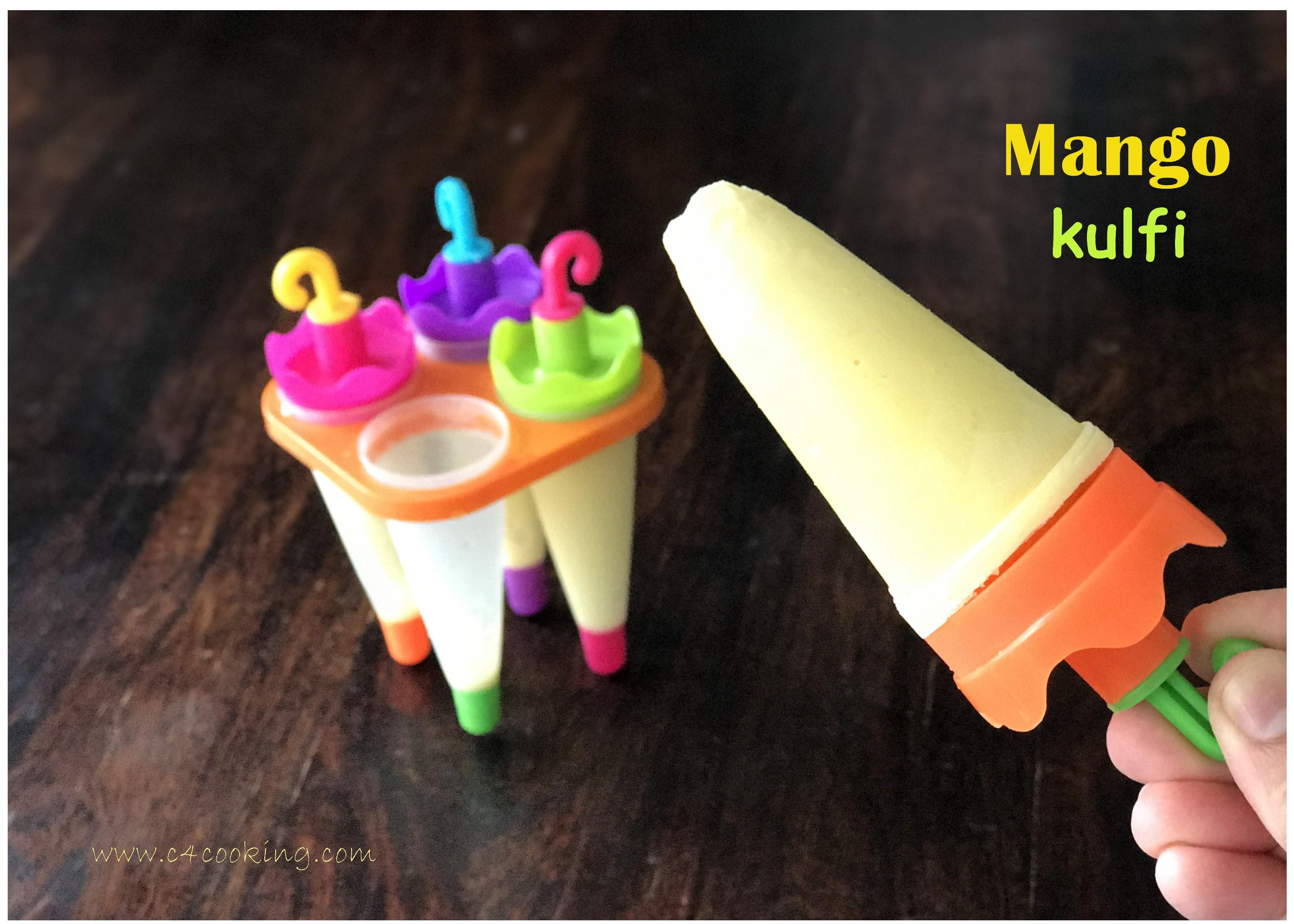 mango popsicle, mango kulfi recipe, kulfi recipe,