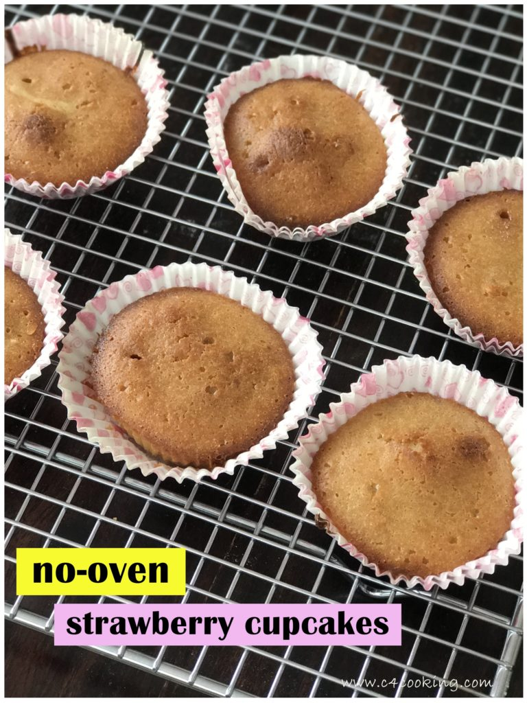 strawberry jam nooven cupcake, c4cooking nooven cupakes recipe, toddler cupcake,