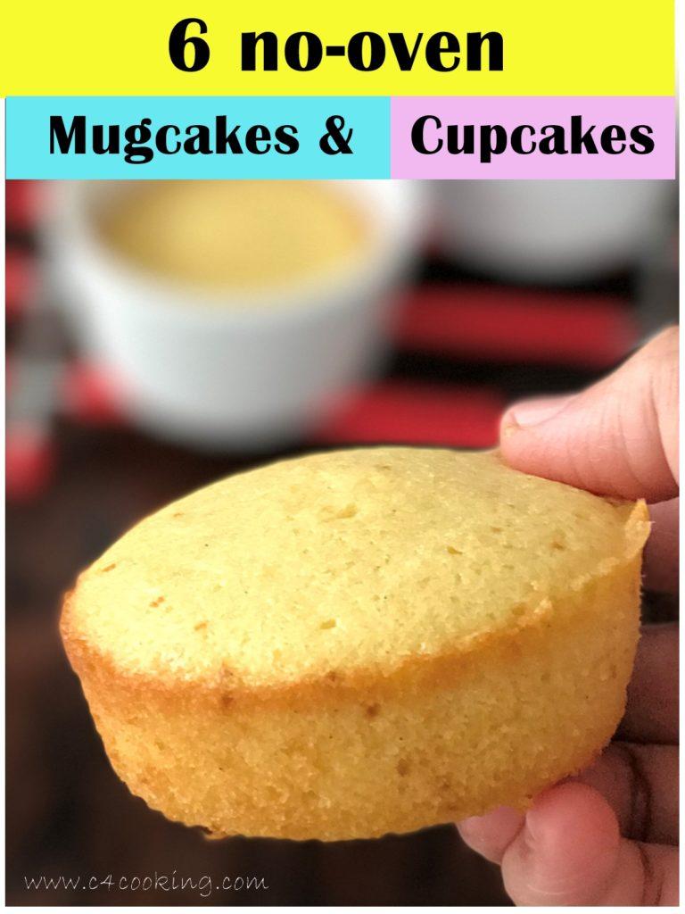 spongy mugcake cupcake without oven, pressure cooker mugcake, nooven mugcake recipes, c4cooking nooven mugcakes cupcakes,