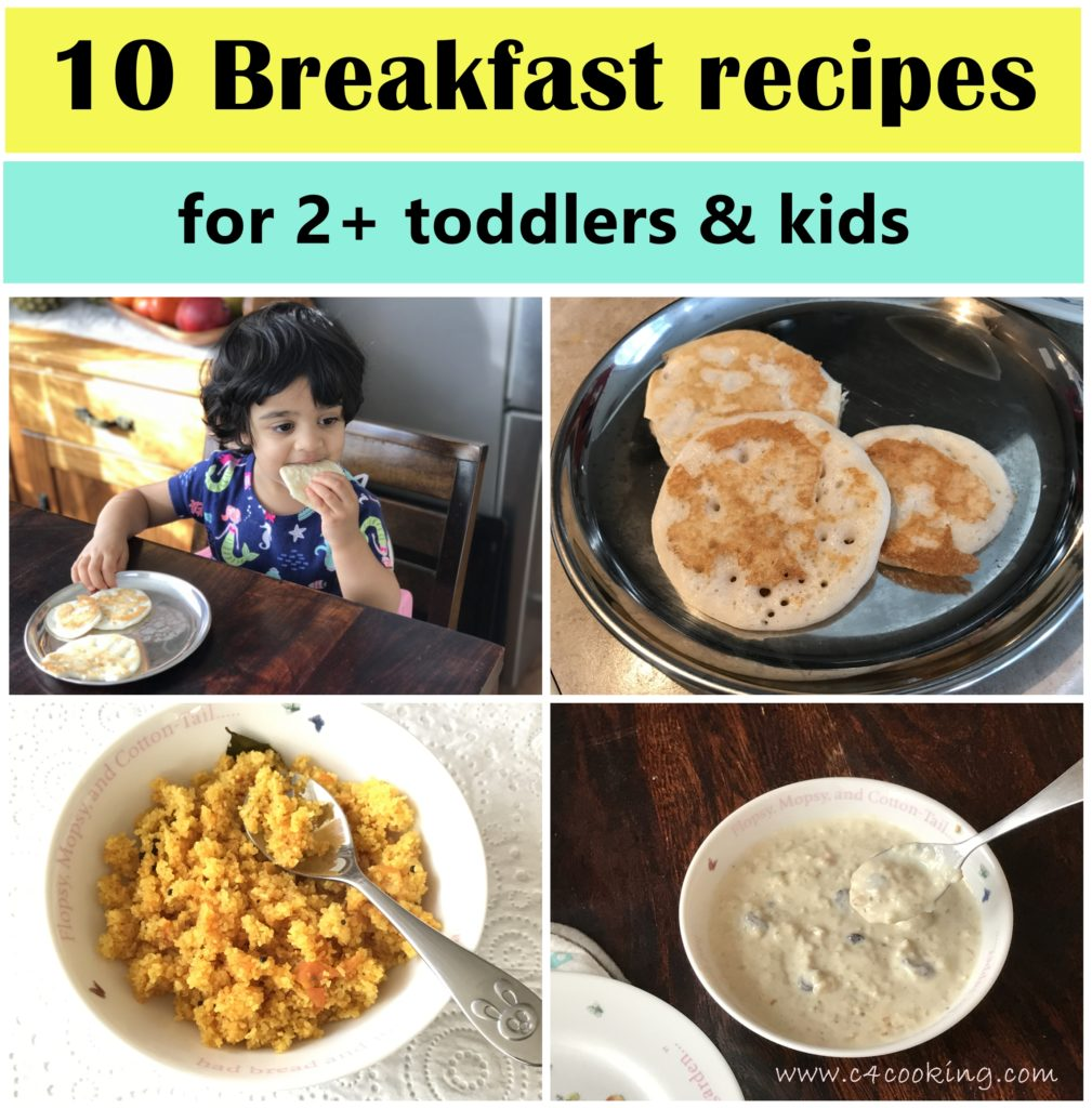 10 breakfast recipes for toddlers and kids, c4cooking breakfast recipes