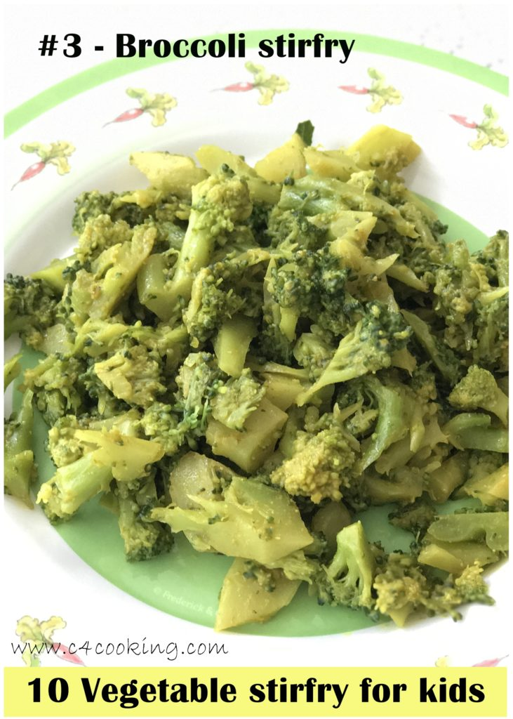 broccoli stirfry recipe, toddler kids recipes