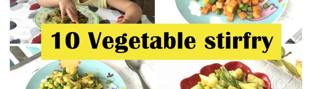 10 Vegetable stirfry toddler kids