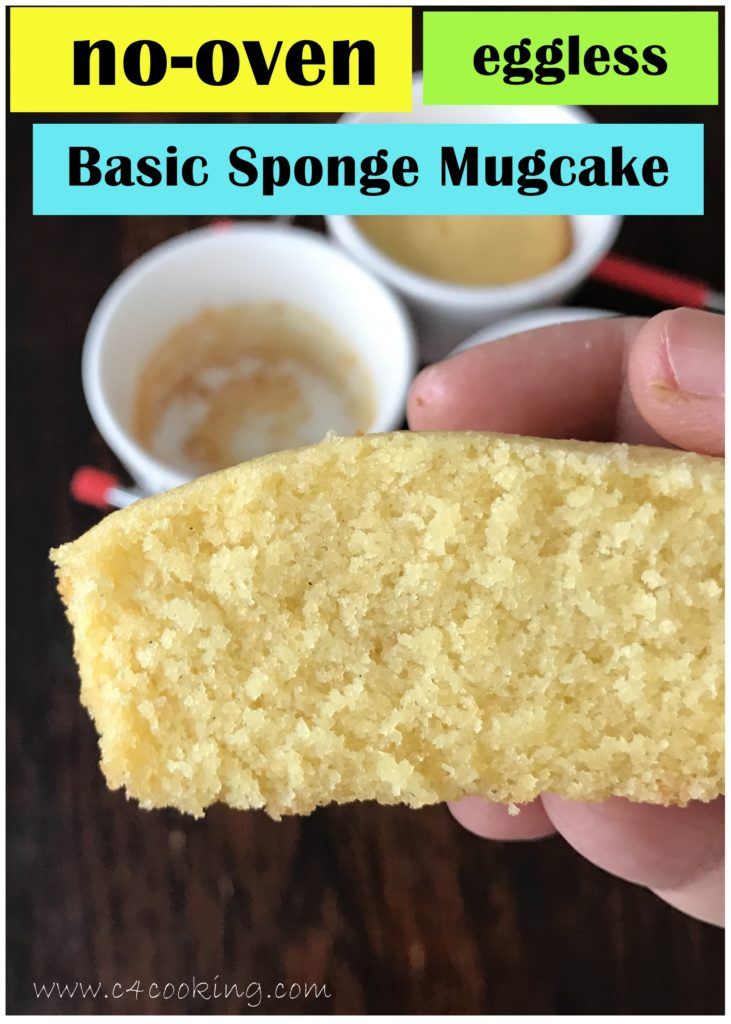 eggless sponge mugcake recipe, c4cooking nooven eggless mugcake, steel cupcake recipe