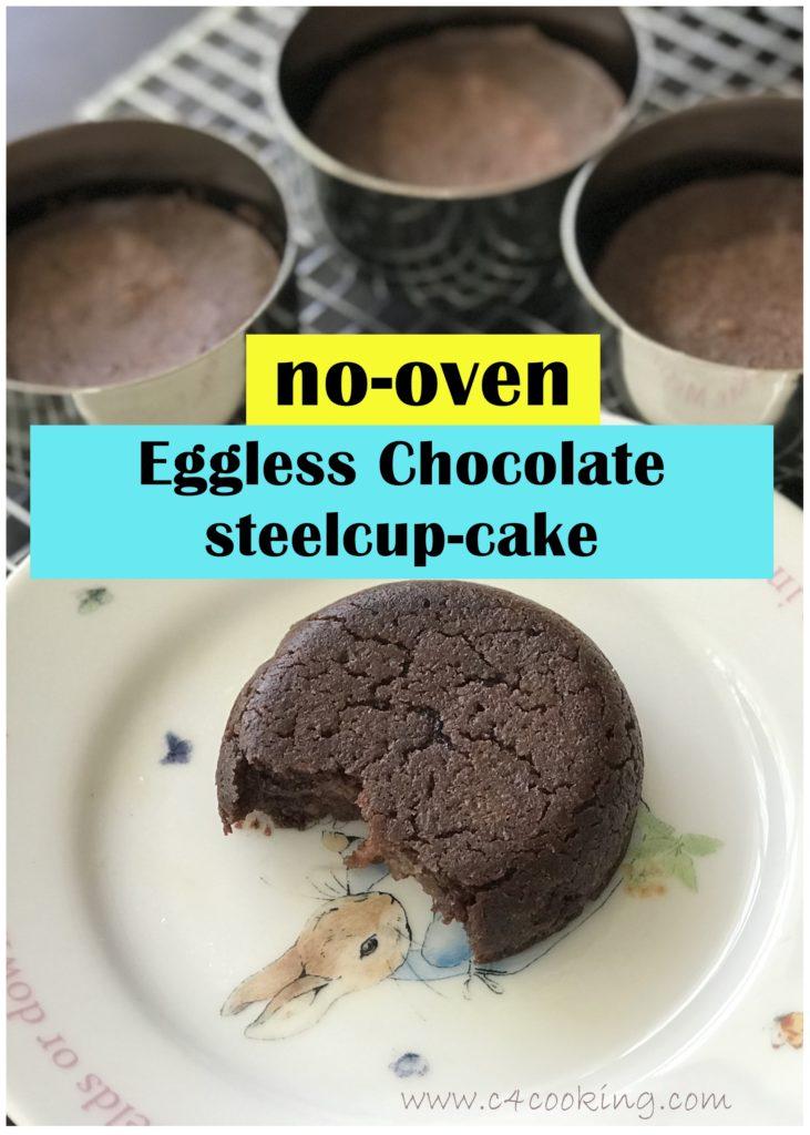 eggless chocolate mugcake, nooven pressure cooker chocolate cake recipe, eggless mugcake recipe,